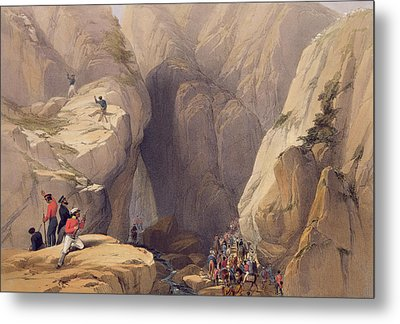 Entrance To The Kojak Pass From Parush Metal Print