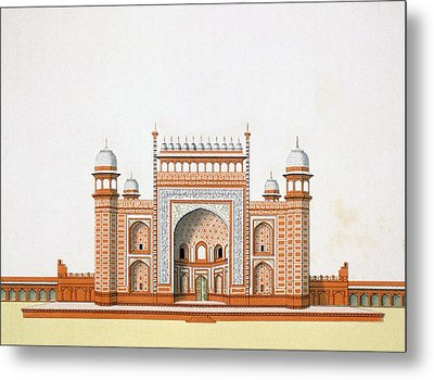 Entrance To The Taj Mahal Metal Print by German School