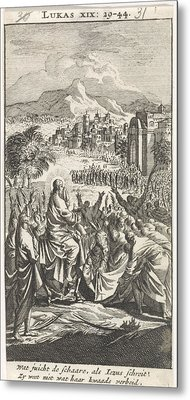 Entry Into Jerusalem, Jan Luyken, Anonymous Metal Print