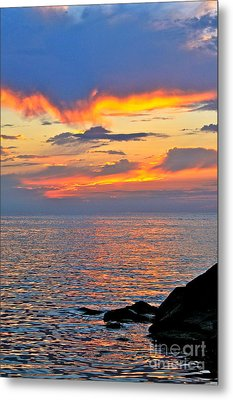 Erie Sunset Metal Print by Jay Nodianos
