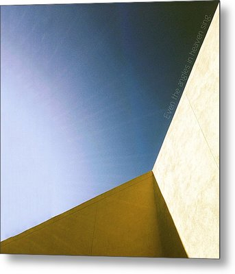 Metal Print featuring the photograph Even The Angles Sing by Kevin Bergen