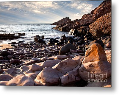 Evening At The Sea Metal Print by Nailia Schwarz