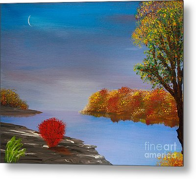 Evening On The Last Sunny Day Metal Print