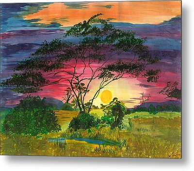 Evenings Bliss Metal Print by Beverly Marshall