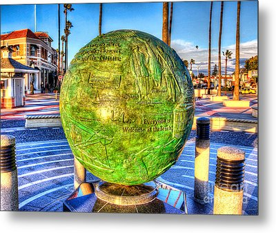 Metal Print featuring the photograph Everyone Is Welcome At The Beach by Jim Carrell