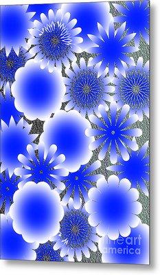 Every Blue Snowflakes Metal Print