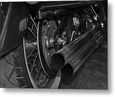 Exhaust Metal Print by Cherie Haines