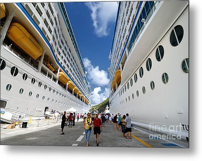 Explorer Of The Seas And Adventure Of The Seas Metal Print by Amy Cicconi