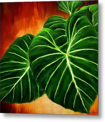 Exquisite Collection- Philodendron Gloriosum Metal Print