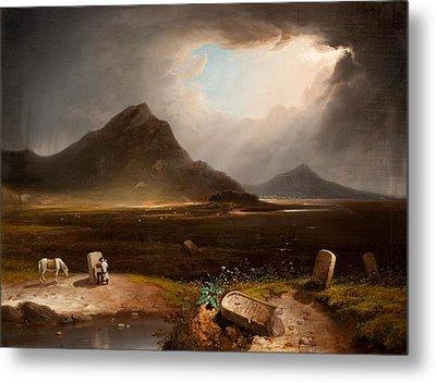 Extensive Landscape With Stonemason Metal Print by Daniel M. Mackenzie