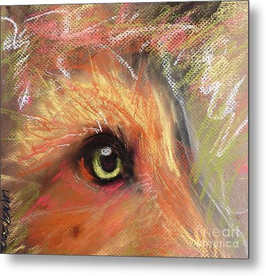 Eye Of Fox Metal Print