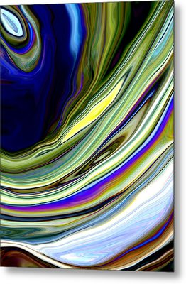 Eye Of The Storm Metal Print by Linnea Tober