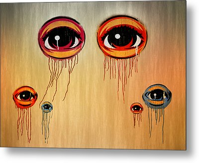 Eyes Metal Print by Steven Michael