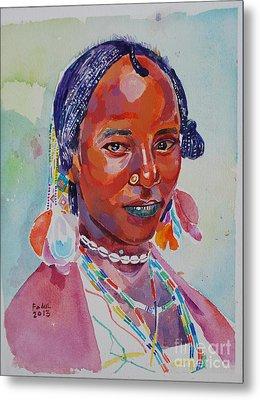 Face From Sudan  2 Metal Print