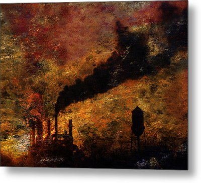 Factory Metal Print by Bruce Rolff