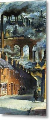 Factory Chimneys Metal Print by Andrew Howat