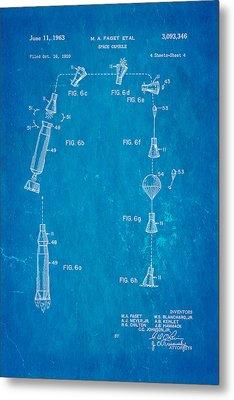 Faget Space Capsule Patent Art 2 1963 Blueprint Metal Print by Ian Monk