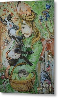 Fairy Hoppert Metal Print by Ottilia Zakany