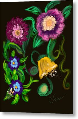 Fairy Tale Flowers Metal Print by Christine Fournier