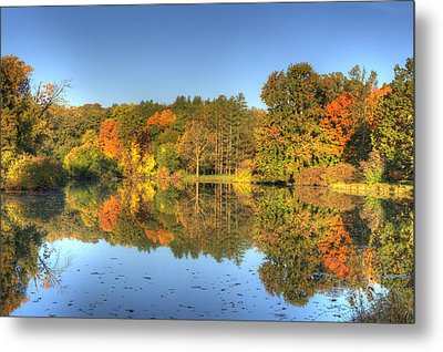 Metal Print featuring the photograph Fall At Lake Marmo by Ed Cilley