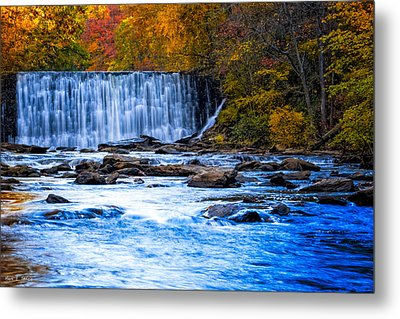 Fall Comes To Vickery Creek In Roswell Metal Print by Mark E Tisdale