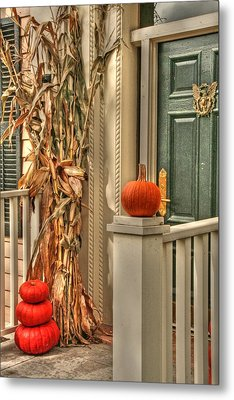 Fall Welcome Metal Print by Heather Allen