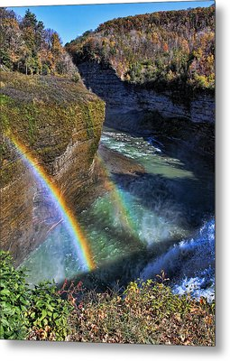Metal Print featuring the photograph Falling Rainbow by David Stine