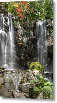 Falls At Anderson Japanese Gardens Metal Print