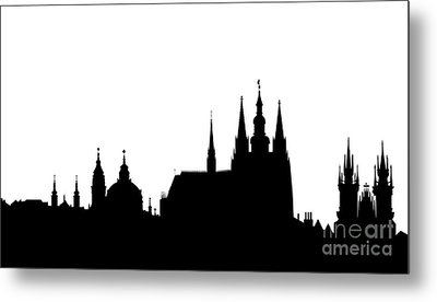 famous landmarks of Prague Metal Print