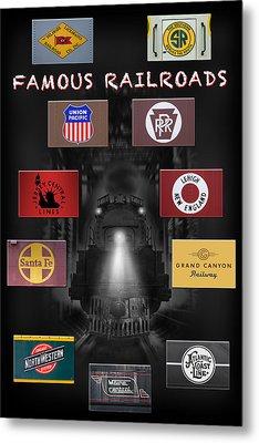 Famous Railroads Metal Print by Mike McGlothlen