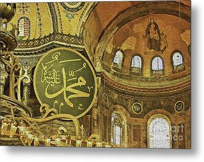 Famous The Hagia Sophia Metal Print by Dragomir Nikolov