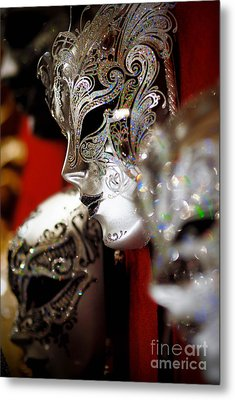 Fancy Masks For Masquerade Ball Metal Print by Amy Cicconi