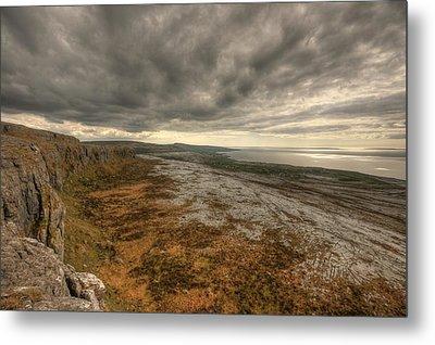 Fanore Burren View Metal Print by John Quinn