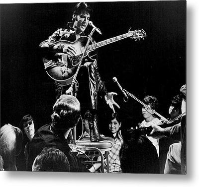 Fans Surround Elvis Presley Metal Print by Retro Images Archive