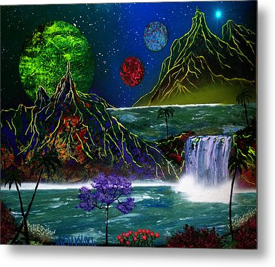 Fantasy Planets Metal Print by Michael Rucker