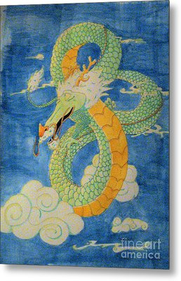 Metal Print featuring the painting Far East Wind Rider by Wendy Coulson