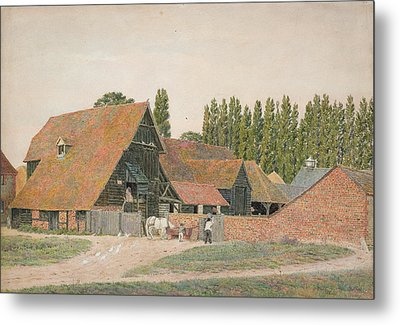 Farm Buildings, Dorchester, Oxfordshire Metal Print