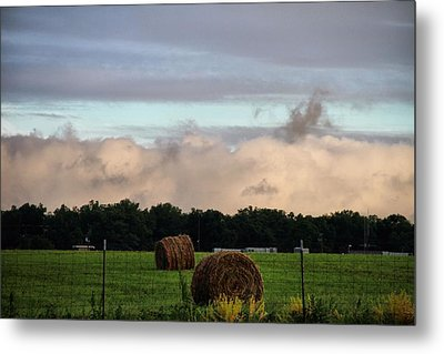 Farm Field Drama Metal Print by Dan Sproul