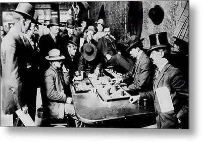 Faro Game Orient Saloon C. 1900 - Arizona Metal Print by Daniel Hagerman