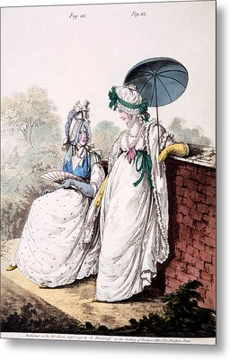 Fashion Plate Of Ladies Morning Dress Metal Print