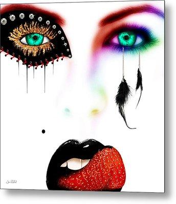 Fashionista Soft Rainbow Metal Print