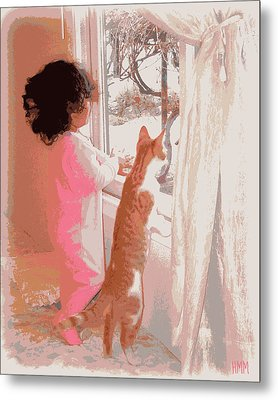 Feline Friend Metal Print