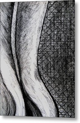 Female Nude The Backside Metal Print