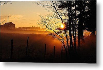 Fence Line Metal Print by Paul Noble
