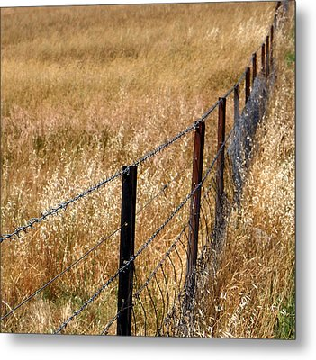 Fenced Off Metal Print by Kaleidoscopik Photography