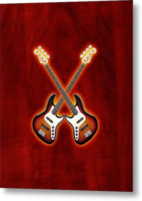Fender Jazz Bass Lefty Metal Print by Doron Mafdoos