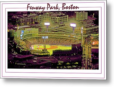 Fenway Park Boston Massachusetts Digital Art Metal Print by A Gurmankin