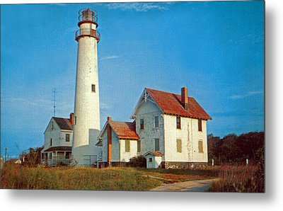 Fenwick Island Lighthouse 1950 Metal Print by Skip Willits