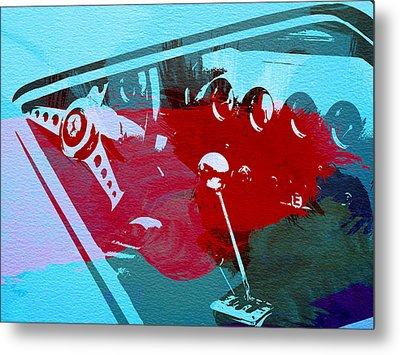 Ferrari Cockpit Metal Print by Naxart Studio