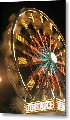 Ferris Wheel Metal Print by Brandon Tabiolo